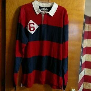 Men's XL Long sleeve rugby shirt. NWT.